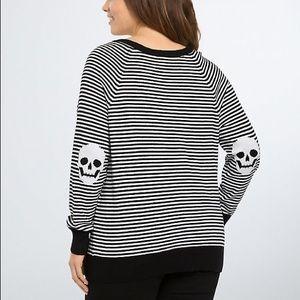 Torrid stripped skull sweater